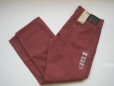 LEVIS Men's 514 Straight Slim Fit Brick Red Jeans Size 29/32 NWT