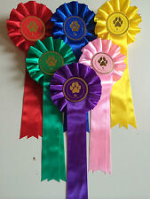 Rosettes 1 Tier  Paw Motif Placed 1st - 6th Cat Dog Agility Show Competition