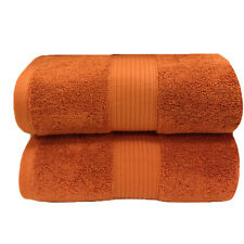 Copper (Bronze) Plush Cotton Bath Sheets (Pair)