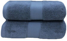 Seaside Blue 100% Cotton Solid 2PC Plush Towels, Ultra Soft Bath Sheets / Towels