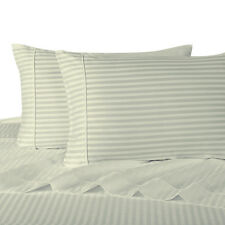 Ivory Cotton Sheets 600 Thread Count Stripe Collection