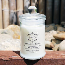 Scented 100% Soy Wax Candle Jar - 30hr Burn Time *Choose Your Scent* All Natural