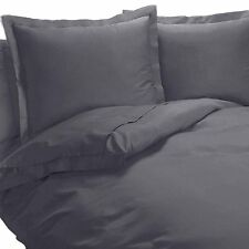 Wrinkle Free Gray 650 Thread Count Cotton-Blend Duvet Cover Sets