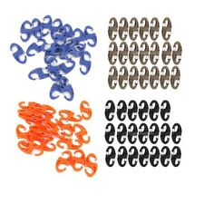 20x Double Gate Figure 8 Snap Clip Carabiners Molle buckle Hanging Hook Keychain