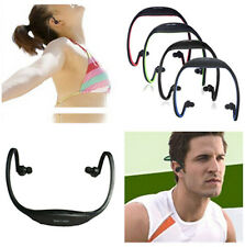 New Sport Wireless Headset Headphone Earphone MP3 Music Player Micro TF SD Slot
