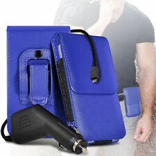 PU Leather Pouch Belt Holster Case & Car Charger For Nokia Lumia 635