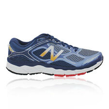 New Balance M860v6 Mens Blue Grey Support Running Shoes Trainers 2E Width