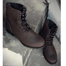 Fashion Winter Warm Men's Retro Punk England-style High-top Combat Boots Shoes