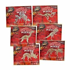 New Wooden Puzzle Dinosaurs Skeleton Jigsaw Kids Toy Age 3+ Build Model Version