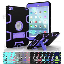 Armor Hybrid Heavy Duty TPU Rubber Shockproof Kickstand Case Cover For iPad Mini