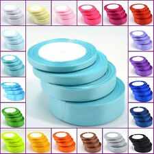 2 METRES OF SATIN RIBBON 25MM IN MULTIPLE COLOURS SOLD IN ROLLS