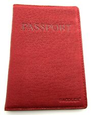 NEW HIGH QUALITY SADDLER REAL LEATHER UK EUROPEAN PASSPORT HOLDER COVER