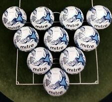 10 x MITRE MISSION TRAINING FOOTBALLS - WHITE/SKY/NAVY - Sizes 3, 4 & 5