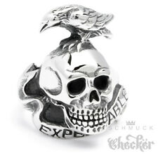 Stainless Steel Ring The Expendables Skull Raven Actionheld Action Film