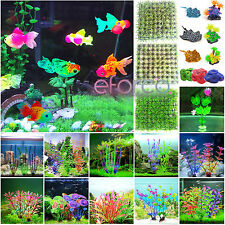 Artificial Glow Fish Grass Silica Plant Coral Ornaments Aquarium Fish Tank Decor