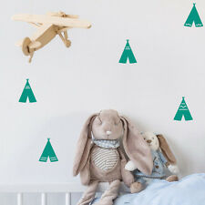 Teepee Wall Decals 24pcs Removable Wall Stickers Decor Nursery Pick A Colour