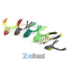 50mm/12.5g Frog Water Fishing Lures Crank Baits Double Tail Hooking Bait Tackle
