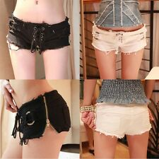 New Sexy Women Denim Jeans Shorts Hot Pants Low Waist Super Mini Shorts Pants