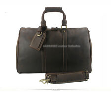 Crazy Horse Genuine Leather Men's Travel bag Tote duffle bag Leather luggage bag