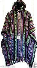 Handmade Nepal Fair Trade Warm Hippy Boho Festival Ethnic Thick Cotton Poncho