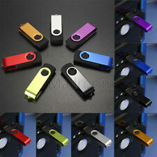 1/2/4/8/16/32/64GB Swivel USB 2.0 Metal Flash Memory Stick Storage Thumb U Disk
