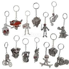 Punk Motor Bike Riding Rubber Skulls Ghost KeyChain Purse Bag Keyring Key Chain