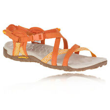 Merrell Terran Lattice II Womens Orange Walking Hiking Sandals Summer Shoes