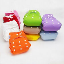 New 1 PCS+1INSERTS Adjustable Reusable Lot Baby Washable Cloth Diaper Nappies