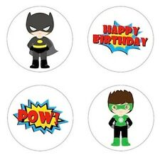 Little Super Hero Inspired Edible Cupcake Toppers Decoration {Batman, Spiderman}
