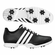 New Womens Adidas Driver May Black White Leather Golf Shoes Trainers Size 4-8 UK