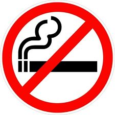No Smoking Logo Decals / Stickers
