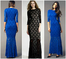 BNWT HONOR GOLD Lace New £75 Fishtail Towie Club Party Long Ballgown Maxi Dress