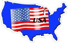 American Flag United States Map Flag Decal / Sticker