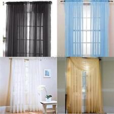 "1 Piece Sheer Voile Window Curtain Panel Treatment Drapes Many Colors, 39""X78"""