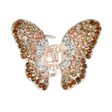 Ladies' Diamante Butterfly Spring Hair Claw Clip Clamp Small