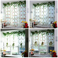 Window Roman Curtain Embroidered Sheer Curtains For Kitchen Living Room Window