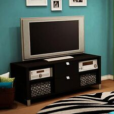 TV Stand 60 Inch Chocolate Contemporary Entertainment  Center Furniture