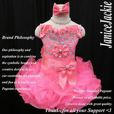 New National Pageant Cupcake Dress Neon Pink. Straps Style Cupcake Glitz