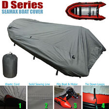 Seamax Inflatable Boat Cover, D Series for Beam 5.8-6.4ft, Length 12.2-16.5ft