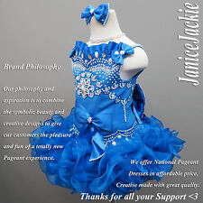 New National Pageant Cupcake Dress Reflex Blue. Straps Style Cupcake Glitz