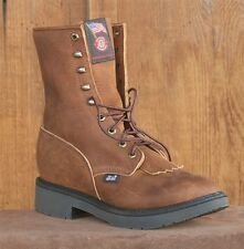 MENS JUSTIN AGED BARK SOFT TOE LACER WORK BOOTS ~ 760 ~ ALL WIDTHS!
