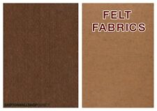 CHOCOLATE BROWN AND CAMEL BROWN CRAFT FELT FABRIC WIDTH 150CM APPROX PRICE/METER