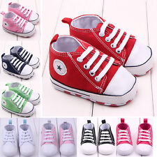 Toddler Prewalker Infant Baby Crib Shoes Newborn Canvas Sneaker Anti-Slip MAD