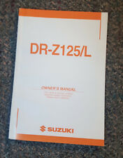 Suzuki DR-Z125/L Owner's Manual, 99011-08G51-03A