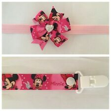 minnie mouse dummy clip headband hair combo bow party photo prop girls newborn