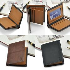 Fashion Men's Leather Wallet Bifold Money Clip ID Credit Cards Holder Purse New