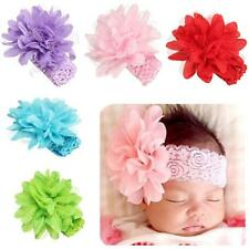 Baby Girl Infant Flower Headbands Lace Bow Hairband Flower Head Band Photo Props