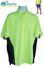 NIKE RUNNING Mens DriFit Stay Cool Ventilated Hi Viz Reflective Top Shirt