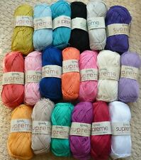 100g Supreme Cotton 4ply Knitting Wool Yarn Crochet Cotton Wendy Wools