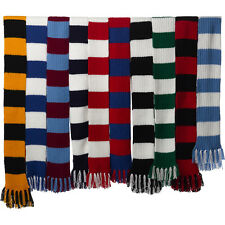 Craft Hobby Knitted Scarf Kit Football & Rugby DK Double Knitting Pattern & Wool